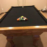 8ft Pool Table 3 Piece Slate