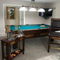 Thomas Aaron Pool Table And Matching Set
