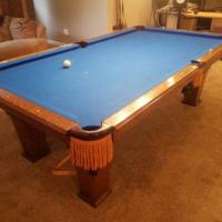 8' Overland Pool Table