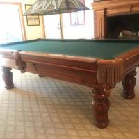 8' Stylish Oak Pool Table For sale