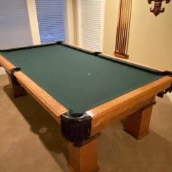 8' Overland Pool Table